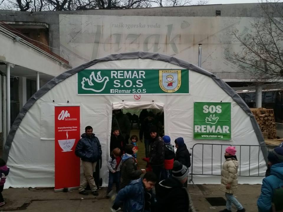 Šator za dijeljenje  hrane