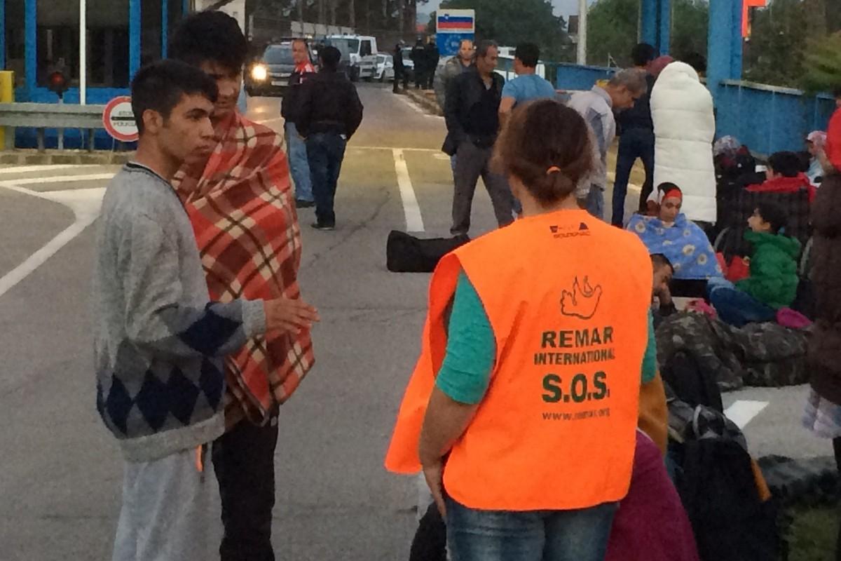 Čekanje ispred Slovenske granice