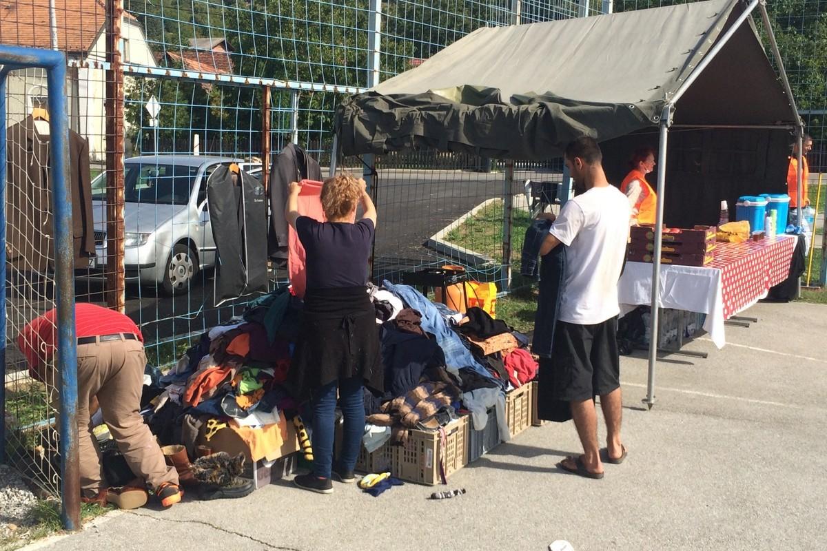 priprema odjeće i obuće za izbjeglice