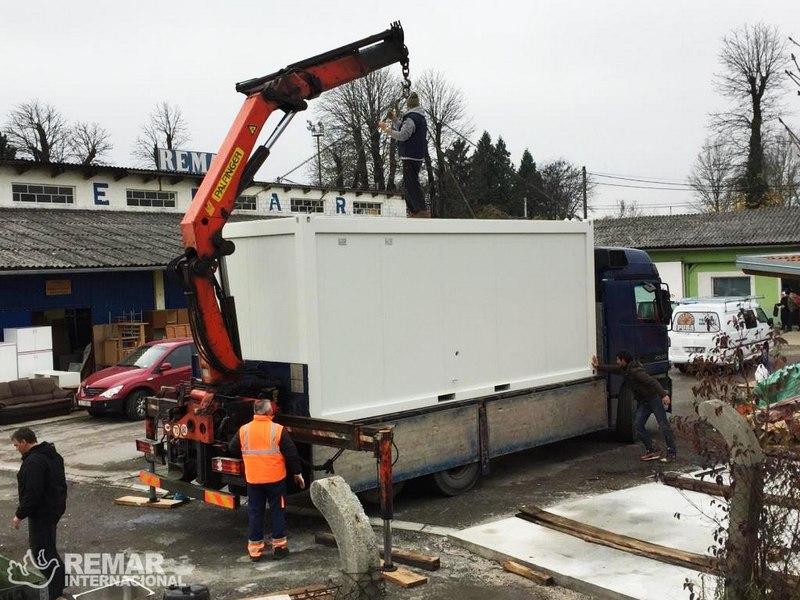 Utovar kontejnera u Zaprešiću