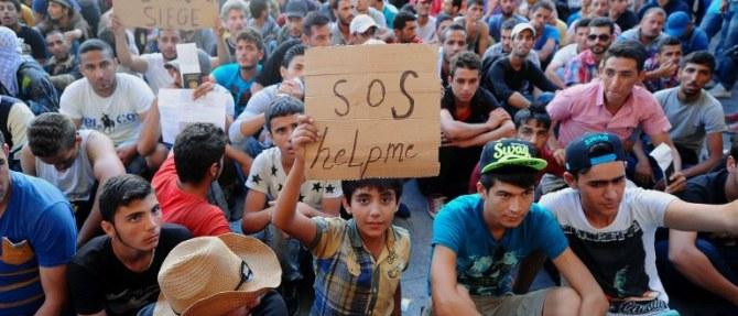 Pomoć izbjeglicama u kampu u Sl. Brodu